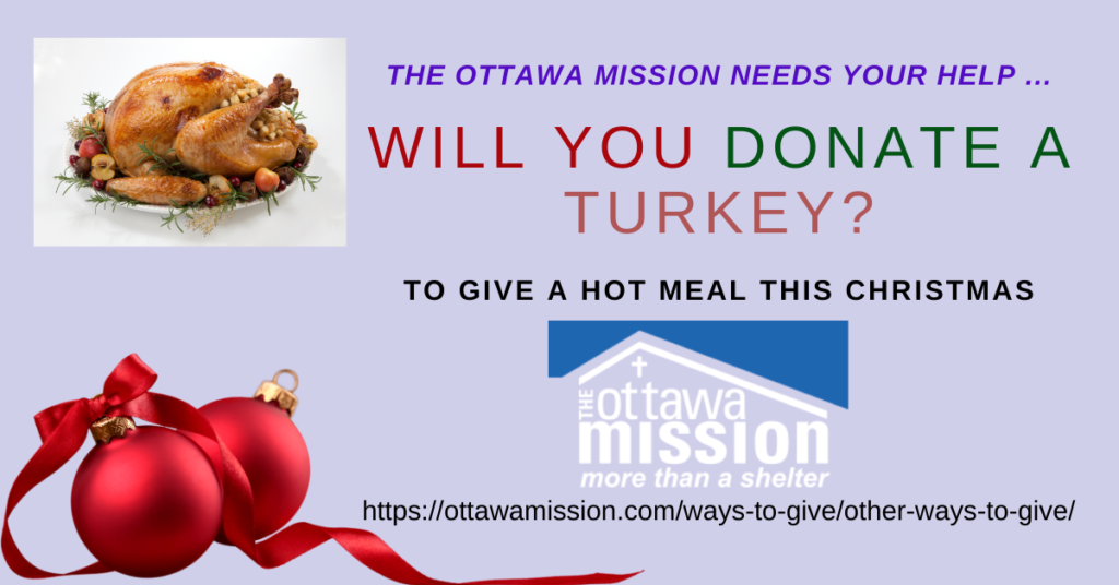 Will you donate a turkey? Ottawa Mission