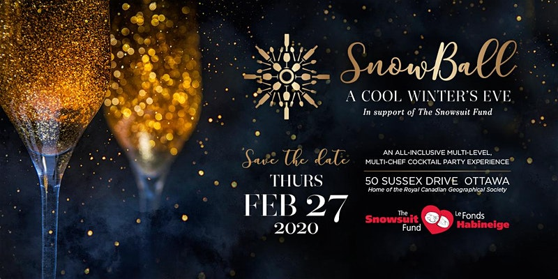 SnowBall 2020 Snowsuit Fund Fundraiser Poster
