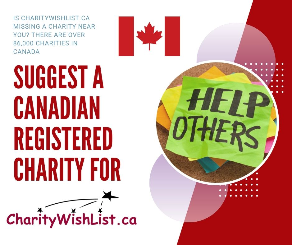 Suggest a Canadian Registered Charity