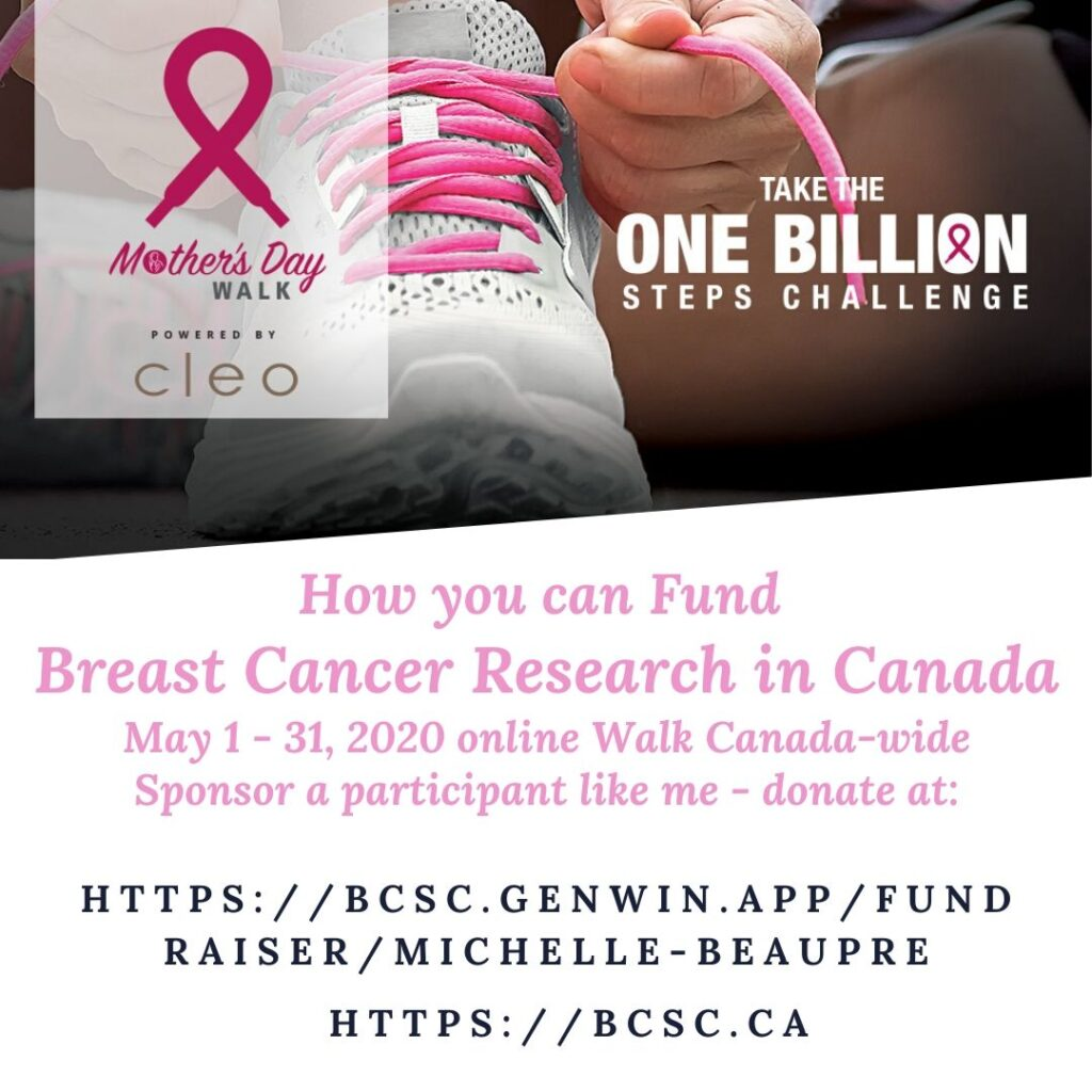 Image - Breast Cancer Society of Canada Fundraising Virtual Mother's Day Walk